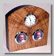 White oak clock